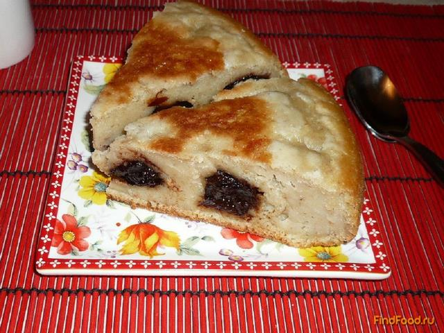 Рецепт Овсяный пирог с черносливом рецепт с фото
