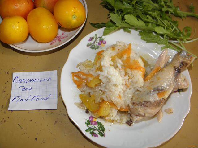 Рецепт Рис с курицей в мультиварке рецепт с фото