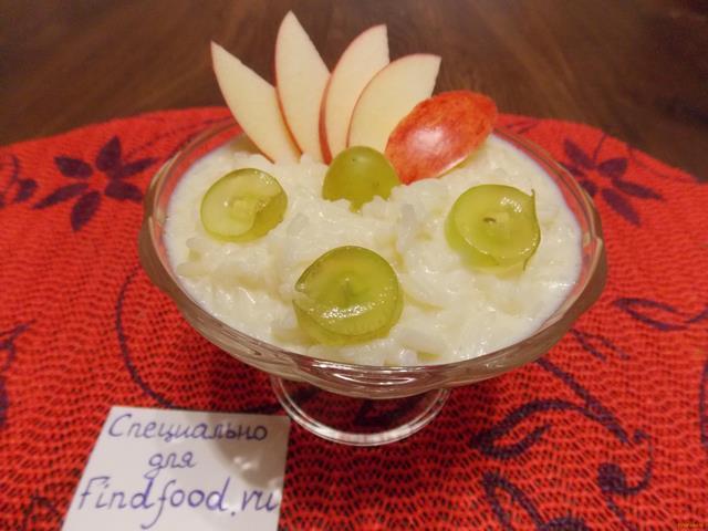 Рецепт Рисовая каша с фруктами в мультиварке рецепт с фото