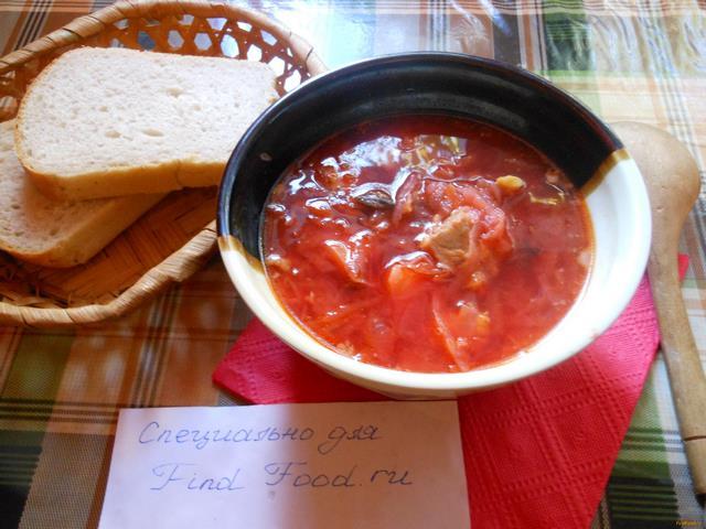 Рецепт Борщ по-полтавски рецепт с фото
