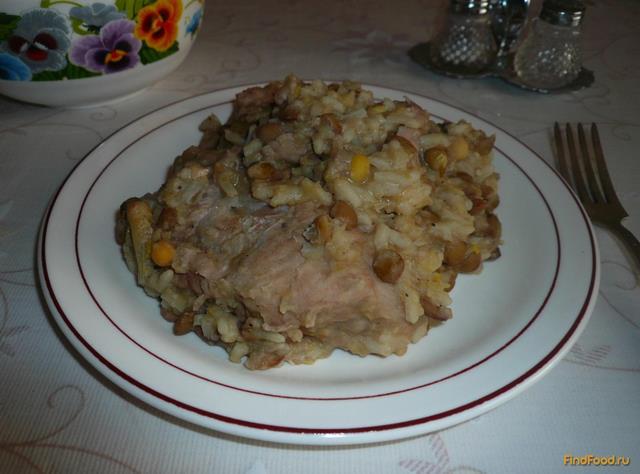 Рецепт Свиное рагу с горохом и чечевицей рецепт с фото