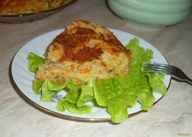 Рецепт Пирог с капустой и морковью рецепт с фото
