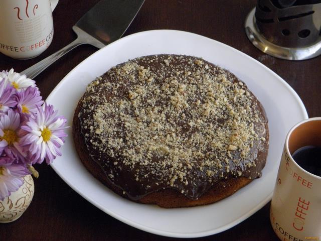 Рецепт Мраморный пирог в мультиварке рецепт с фото