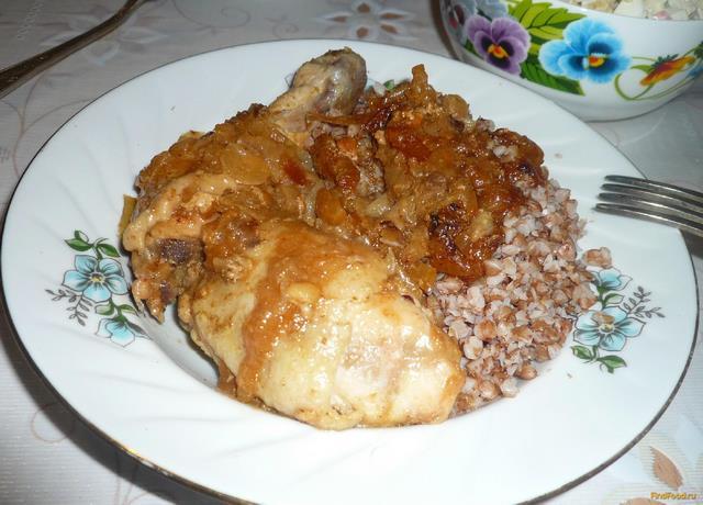 Рецепт Курица в медово-луковом соусе рецепт с фото
