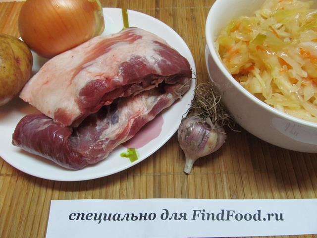 Свиные ребрышки в мультиварке с капустой рецепт с фото