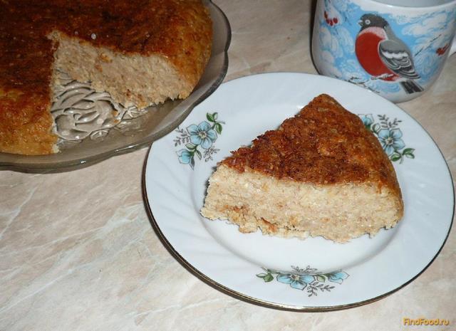 Рецепт Овсяная запеканка с яблоками и творогом рецепт с фото