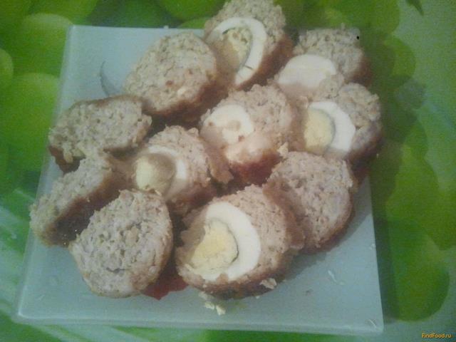 Рецепт Куриный рулет с вареными яйцами рецепт с фото