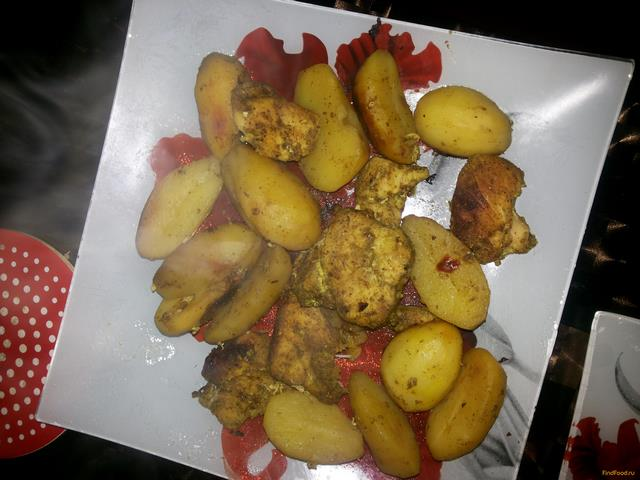 Рецепт Запеченное куриное филе с картофелем в мультиварке рецепт с фото