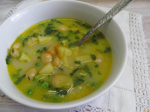Рецепт Фасолевый суп с грибами и горошком рецепт с фото