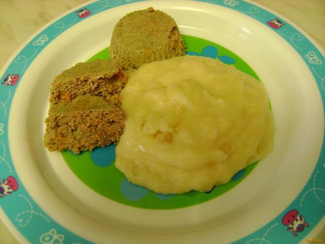 Рецепт Детское печеночное суфле с овощным пюре рецепт с фото