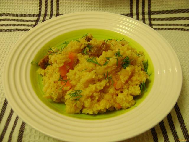 Рецепт Пшенная каша с мясом в мультиварке рецепт с фото
