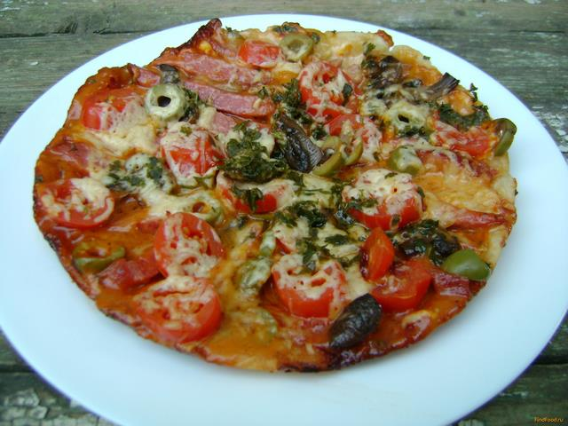 Рецепт Пицца с салями и шампиньонами в мультиварке рецепт с фото