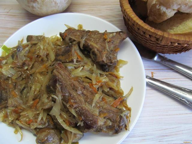 Рецепт Бигос с грибами рецепт с фото