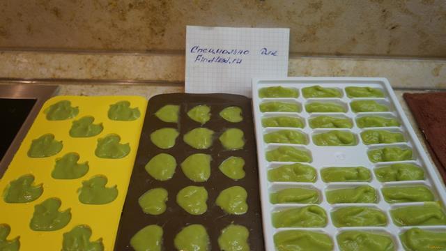 Рецепт Детское пюре из брокколи приготовленное на пару рецепт с фото