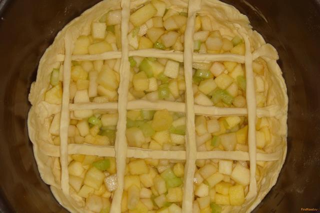 Яблочно-грушевый пирог с сельдереем в мультиварке рецепт с фото 7-го шага