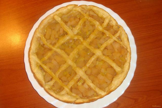 Яблочно-грушевый пирог с сельдереем в мультиварке рецепт с фото 8-го шага