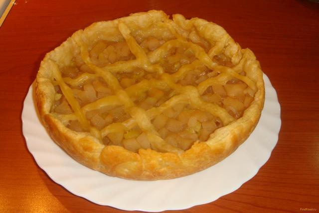 Рецепт Яблочно-грушевый пирог с сельдереем в мультиварке рецепт с фото