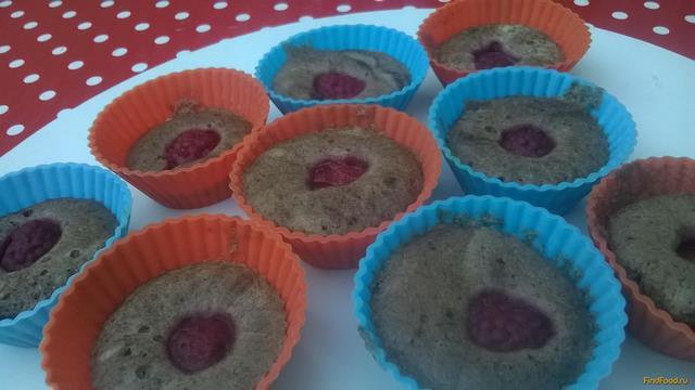 Рецепт Кексы с какао и малиной на пару рецепт с фото
