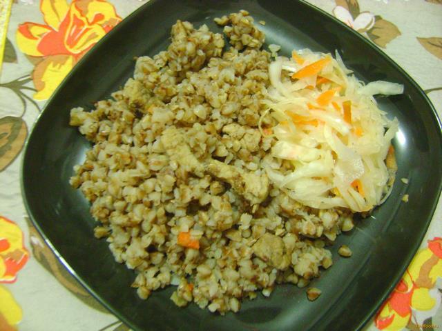 Рецепт Гречневая каша со свининой рецепт с фото