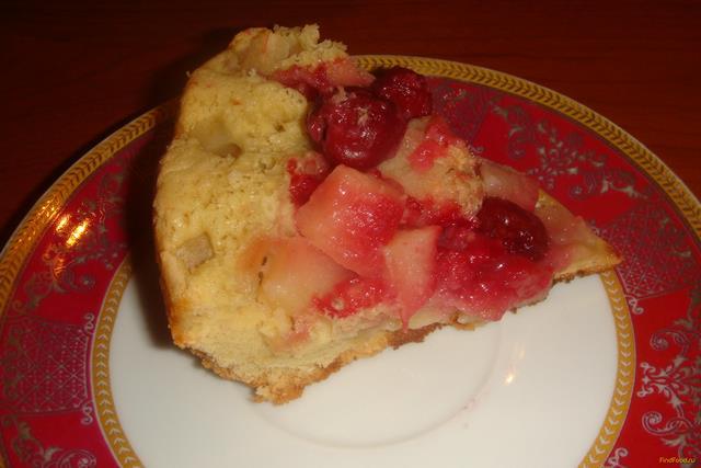Рецепт Пирог с яблоками и вишней в мультиварке рецепт с фото