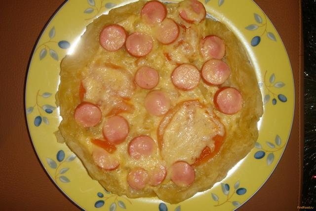 Рецепт Пицца на скорую руку в мультиварке рецепт с фото