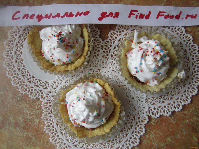 Рецепт песочное пирожное с джемом и белковым кремом рецепт с фото