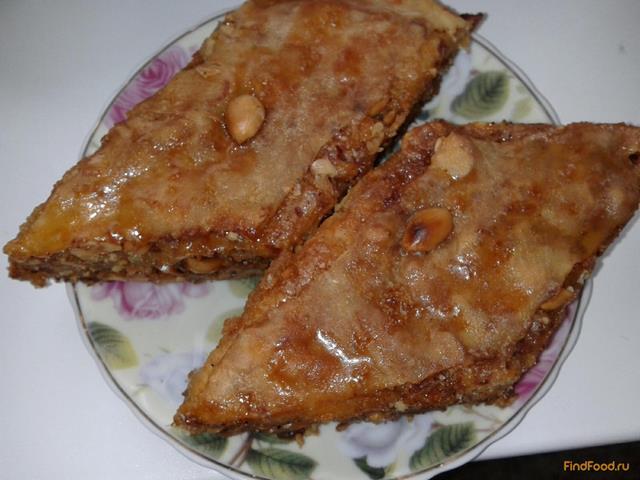Пахлава медовая в домашних условиях рецепт с пошагово