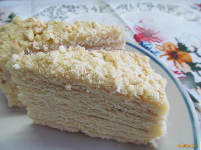 Рецепт Быстрый торт в сковороде с заварным кремом рецепт с фото