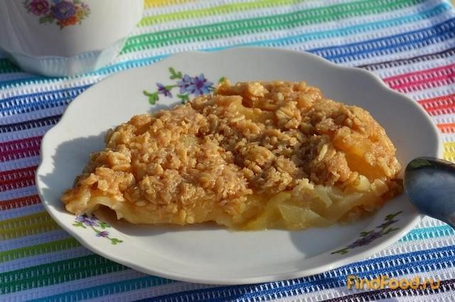 Рецепт Яблочный десерт с овсяными хлопьями рецепт с фото