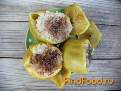Рецепт Запеченные яблоки с медом и рисом рецепт с фото