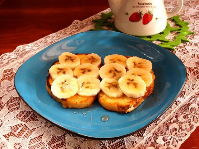 Рецепт Йогуртовые гренки с бананом рецепт с фото