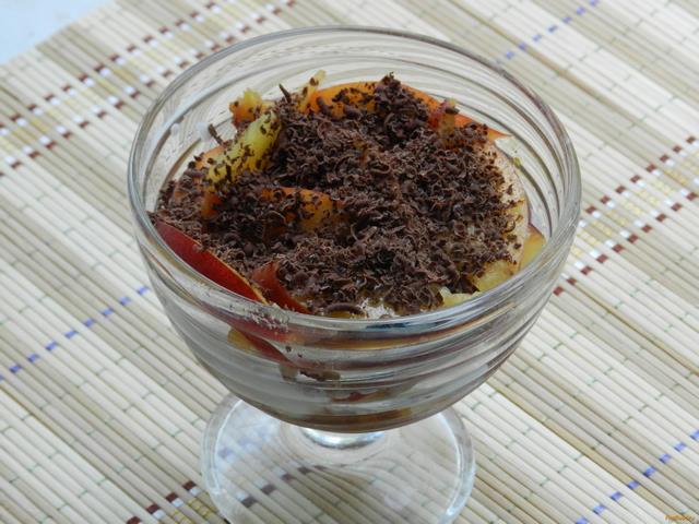 Рецепт Десерт с мороженым и персиком рецепт с фото