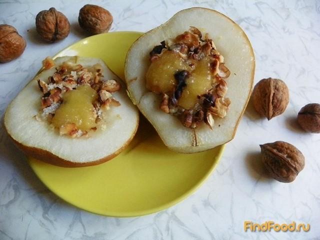 Рецепт Запеченная груша с орехами рецепт с фото