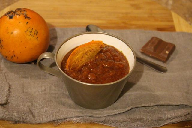 Рецепт Шоколадное смузи из хурмы рецепт с фото