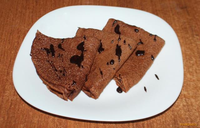 Блины шоколадные рецепт с фото пошагово