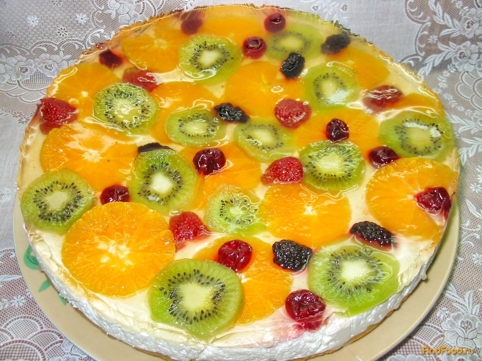 Торт желейный со сметаной, холодный торт рецепт с фото