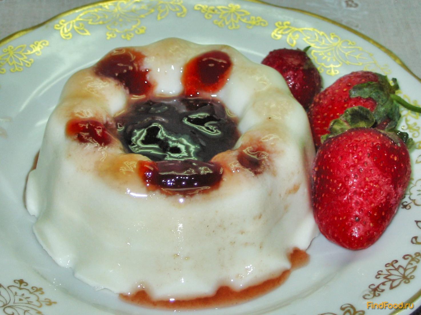 рецепт творожный десерт с желатином