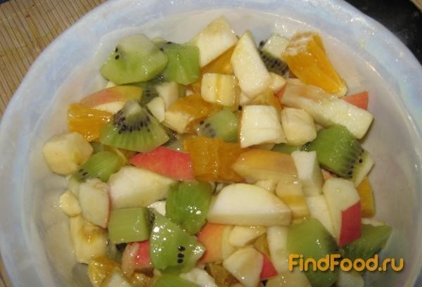 рецепт фруктового салата из апельсина киви банана