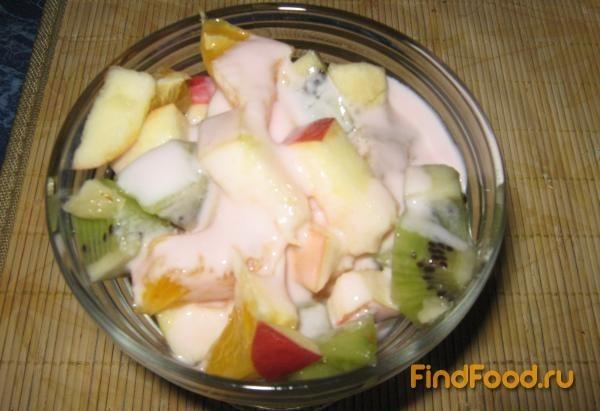 Салат из яблок апельсина и киви рецепт с фото 3-го шага