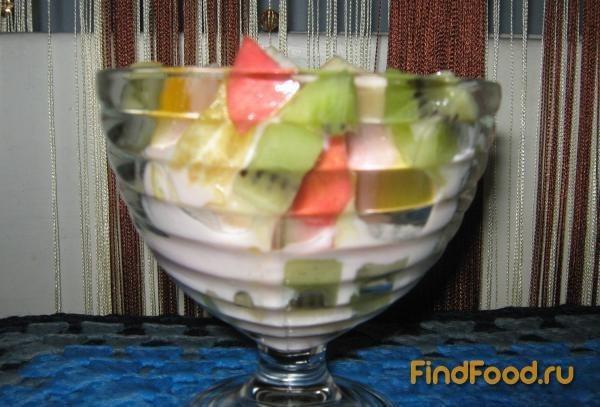Салат из яблок апельсина и киви рецепт с фото 4-го шага