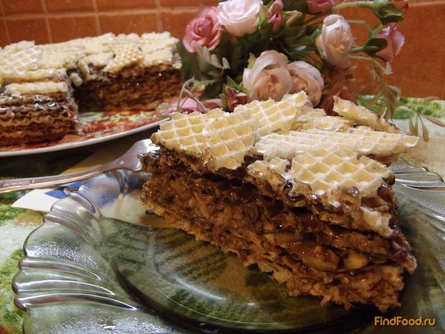 Торт из вафельных коржей рецепт в домашних условиях