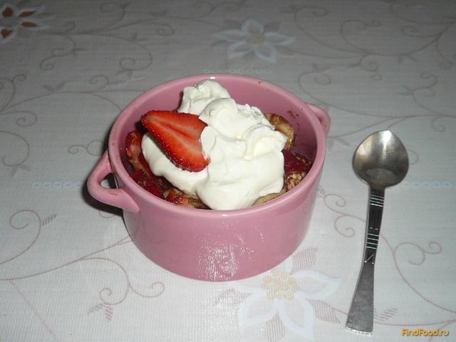 Рецепт Клубнично-банановый десерт с какао рецепт с фото