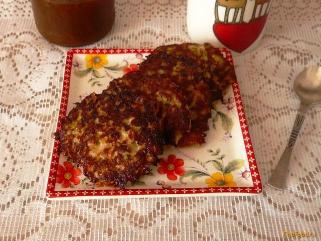 Рецепт Кабачковые оладьи с яблоком рецепт с фото