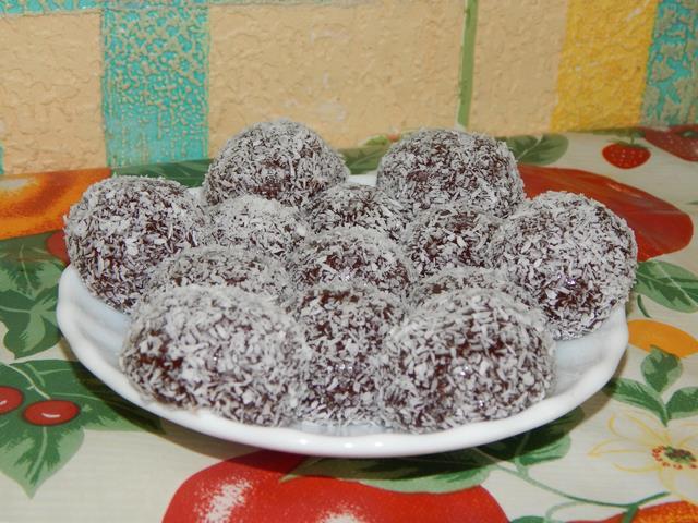 Рецепт Шоколадные ириски в кокосе рецепт с фото