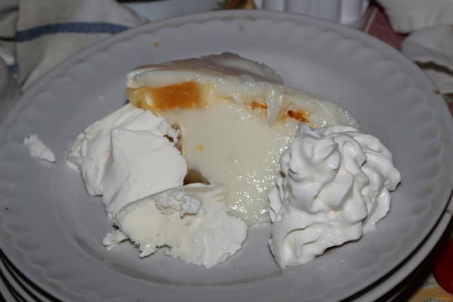 Рецепт Бланманже с апельсинами и нектаринами рецепт с фото