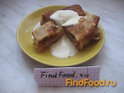 Рецепт Домашние блинчики с яблоком и корицей рецепт с фото