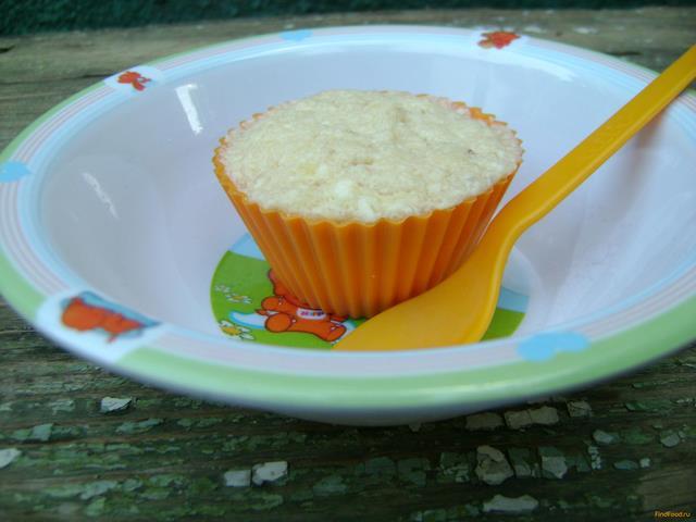 Рецепт Творожно-банановое суфле для ребенка рецепт с фото