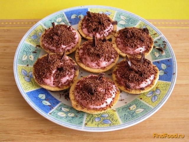 Рецепт Тарталетки с ягодно-творожным кремом рецепт с фото
