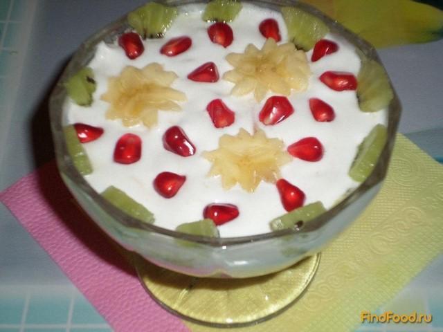 Рецепт Десерт Воздушное фруктовое облачко рецепт с фото