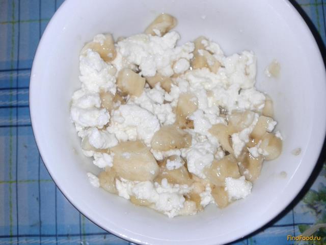 Рецепт Детский кальцинированный творожок с бананом рецепт с фото